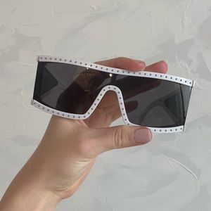 Sheild style sunglasses from Brillies.